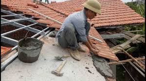 installation terracotta roof tiles building house step by step