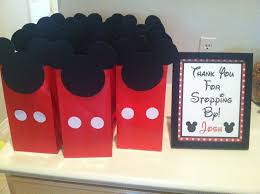 mickey mouse favor bags renee designs theme party mickey mouse inspired party