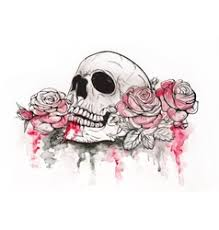 skull and roses vector images 1 300