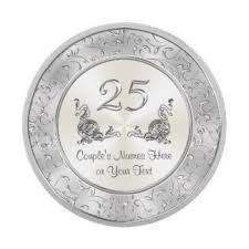 25th anniversary plates personalized parents 25th wedding anniversary plates zazzle