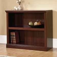 sauder select cherry 2 shelf bookcase 414238