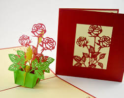 3d cards thank you card flower box card pop up card 3d