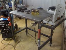 Folding Welding Table Welding Table With Flush Mount Chopsaw Garage Pinterest