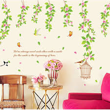 aliexpress buy popular vinyl tree bird cage flower wall
