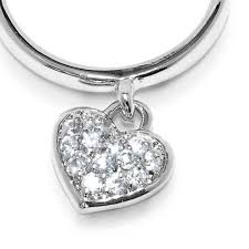 necklace charm ring images Sterling silver pave heart charm ring jpg