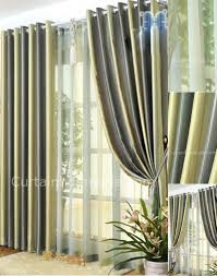 friendly blackout natural style living room green custom curtains