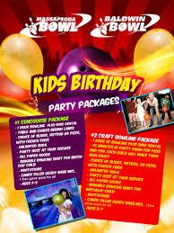 baldwin bowl u003e parties and special events u003e children birthdays