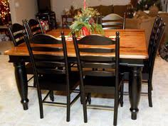 Great Repainted Table  I Used The Valspar Satin Paint In Black I - Black kitchen tables