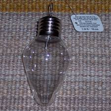 plastic light bulb craft ornament 2 styles c 7 or 97 100mm