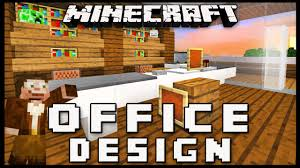 minecraft how to make furniture for an office modern house build