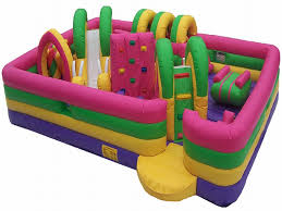 Backyard Inflatables Kids Zone Inflatable Obstacle Course For Sale Bounce House