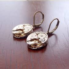 original earrings vintage movement earrings by evy designs
