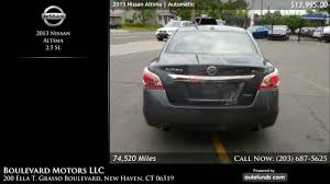 used nissan altima 2013 used 2013 nissan altima boulevard motors llc new haven ct