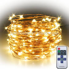 66ft 20m 200 led bright copper wire string lights remote