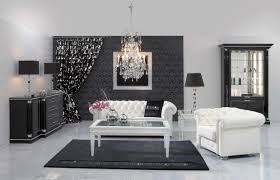 black and white and red living room carpeted flooring hanging