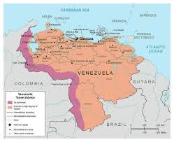 Map Curacao Detailed Map Of Venezuela Venezuela South America Mapsland