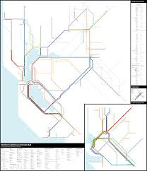 San Francisco Streetcar Map San Francisco Norcal Commuter Rail Crayon Edition Theodore Ditsek