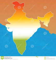 India Blank Map by Outline Map Of India In Tri Colors Stock Photos Image 11871423