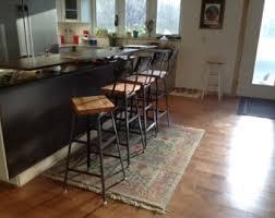 Barnwood Bar Stools Reclaimed Urban Bar Stools Set Of 3 With Steel Backs