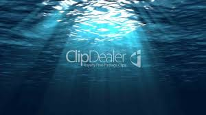 underwater scene with sun rays looping royalty free video and