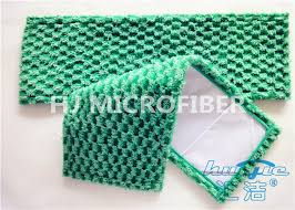 green flat jacquard microfiber fabric dust mop for hardwood floors