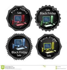 computer black friday pc computer on black friday sale background stock vector image
