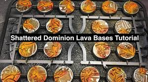 dominion age of sigmar shattered dominion lava bases for the realm of metal