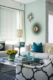 turquoise and gray living room home design