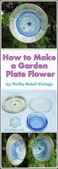 how to make a garden art dish flower repurpose dishes and gardens