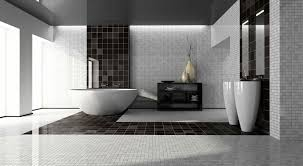 bathroom black ceramics contemporary bathroom combined with white and grey square pattern contemporary bathroom design combined with big bowl bath tub and