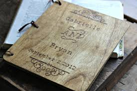 vintage guest book wood wedding guest book rustic guestbook custom name