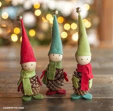 felt and pine cone elves lia griffith