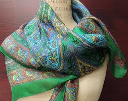 paisley silk scarf etsy