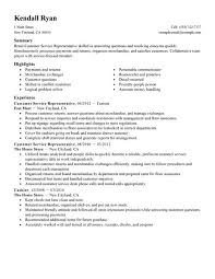 Resume Objective Examples For Customer Service by Resume For A Customer Service Position