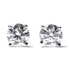 gold diamond stud earrings 1 4 ct cut 14k white gold diamond stud earrings ebay