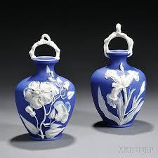 Wedgwood Vase Patterns Pair Of Wedgwood Dark Blue Jasper Dip Vases Sale Number 2776b