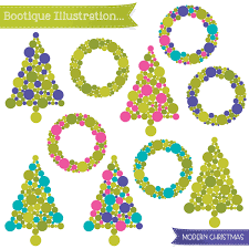 modern christmas tree clip art clip art library