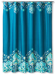 Teal Colored Shower Curtains Tamerin Teal Shower Curtain Everything Turquoise