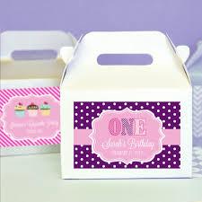 Birthday Favor Boxes by Mod Kid S Birthday Mini Gable Boxes Set Of 12