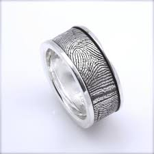 fingerprint wedding bands 34 best mens wedding rings images on men wedding rings