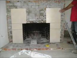 Remove Brick Fireplace by Fireplace Refacing From Brick To Tile Youtube