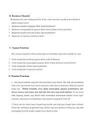 cara membuat batasan masalah yang benar makalah penulisan laporan penelitian