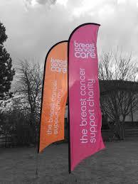 Breast Cancer Flags Feather Flags Digitally Printed Bespoke Versatile U0026 High
