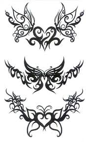 lower back tattoo of temporary tattoos butterfly tribal back