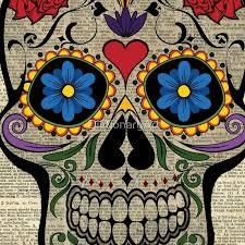 dia de los muertos sugar skulls happy skull sugar skull dia de los muertos artwork