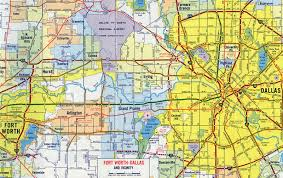 Map Of Dallas by Interstate Guide Interstate 30