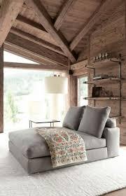 canap chalet canapé gris salon moderne en bois dans votre chalet en bois
