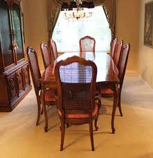 Cane Back Dining Room Chairs Thomasville Dining Room Set With Cane Back Chairs Ebth