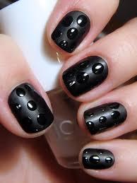 nail polish u0026 ideas matte black with high gloss polka dots on we