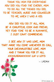 christmas mothers day poems and poem mother to card images